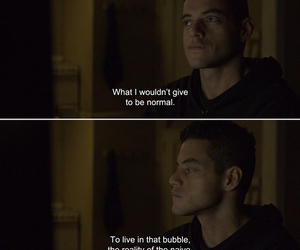 quotes, mr robot, and sad image