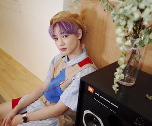 purple hair, zhong chenle, and nct image