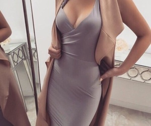 dress, femme, and luxury image