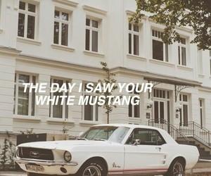 white mustang image