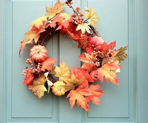 autumn, fall, and wreath image
