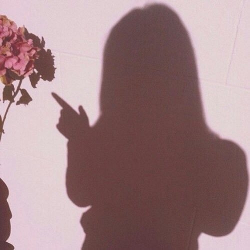 pink, girl, and shadow image