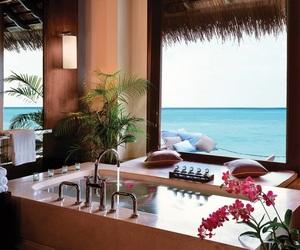luxury, flowers, and bath image