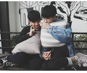 couple, lgbt, and asian gay image