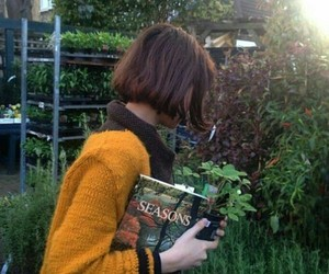 aesthetic, book, and plants image