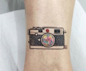 tattoo, camera, and photography image