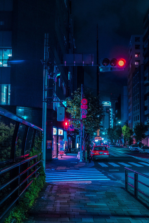 city, night, and japan image
