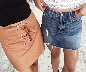 fashion, best friends, and outfit image