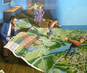 art, rob gonsalves, and surrealist image