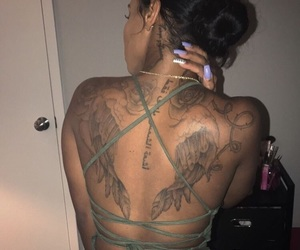 back, tattoo, and dope image