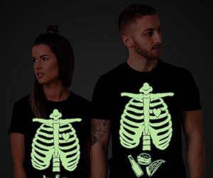 halloween tshirt, etsy, and glow in the dark image