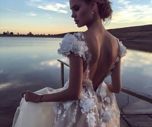 dress, wedding, and wedding dress image