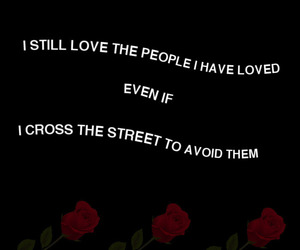 love, quotes, and black image