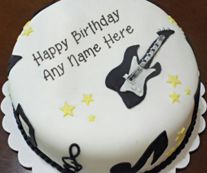 name birthday cakes, name on cakes, and singer cakes image