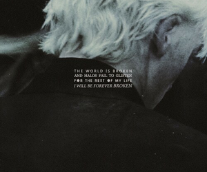 broken, draco malfoy, and harry potter image