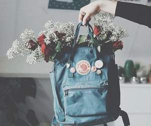 flowers, backpack, and school image