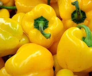 yellow, aesthetic, and peppers image