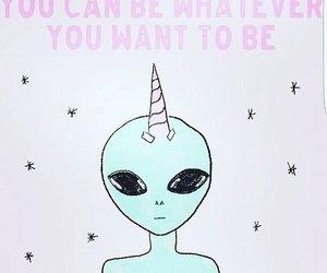 alien and unicorn image