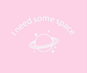 pink, quote, and space image
