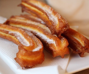 food, churros, and dessert image