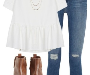 jeans, spring, and outfit image