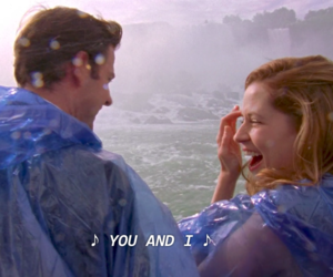 jim and pam, the office, and the office us image