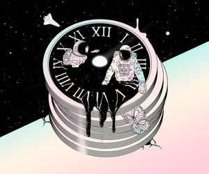 black, clock, and colors image