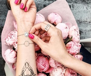 flowers, peony, and tattooart image