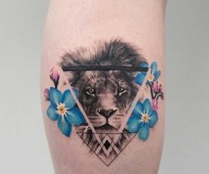 lion, animal, and art image