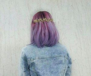 colored hair, dyed hair, and pastel image