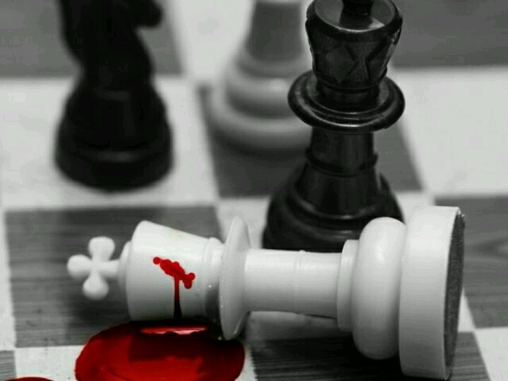 chess, blood, and red image