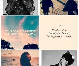 Collage, girl, and Lyrics image
