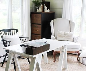 country living, home decor, and home office image
