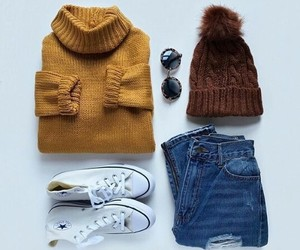 converse, outfit, and fashion image