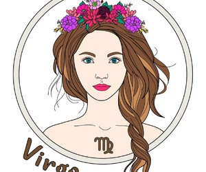 colour, girl, and virgo image