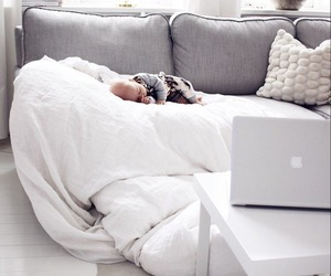 baby, cozy, and sofa image