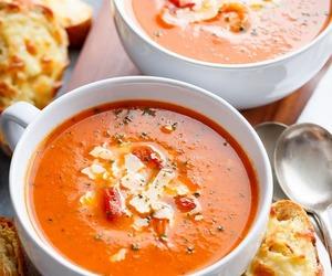 basil, soup, and tomato image