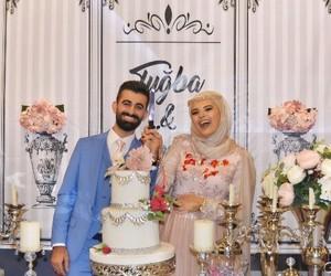 romance, wedding, and muslim couples image