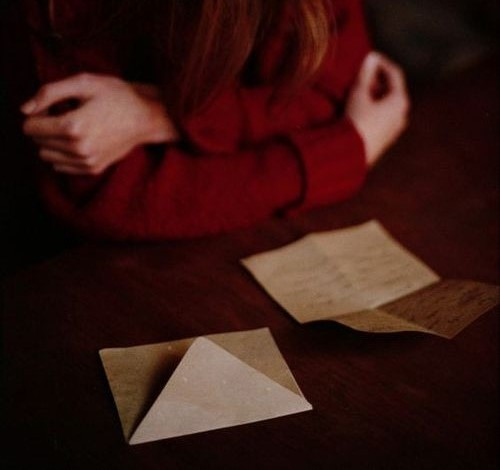 girl, Letter, and indie image