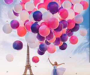 balloon, colorful, and paris image
