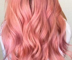 coral, pink, and curl image