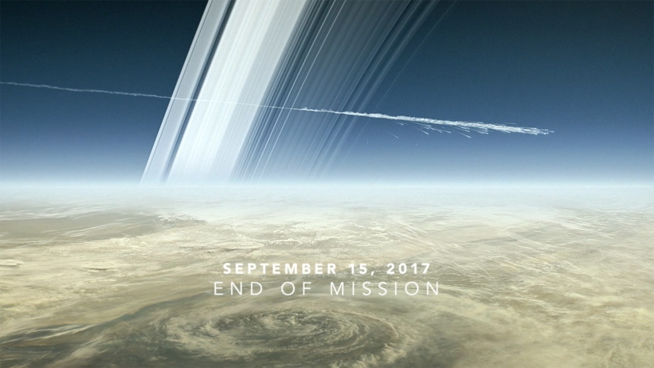 cassini, saturn, and grand finale image