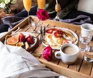 food, breakfast, and breakfast in bed image