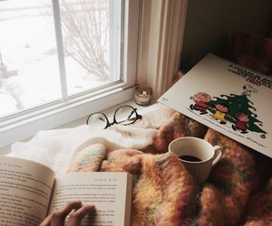 book, cozy, and coffee image