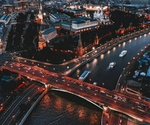 lights, beautiful, and moscow image