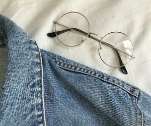 blue, glasses, and jeans image