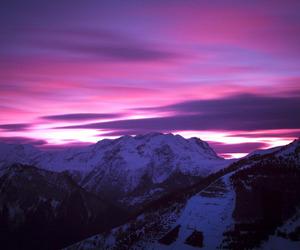 landscape, purple, and sunset image