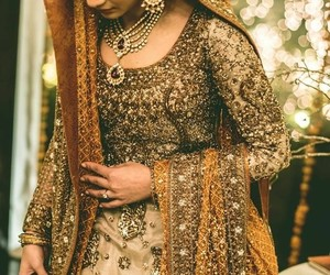 wedding dress, indian bride, and south asian image