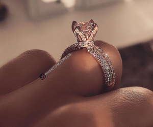diamond, engagement, and girls image