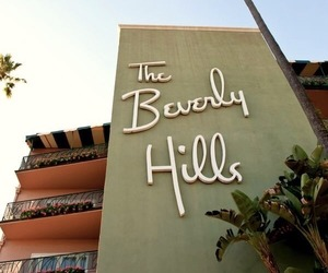 beverly hills hotel, california, and pastel image